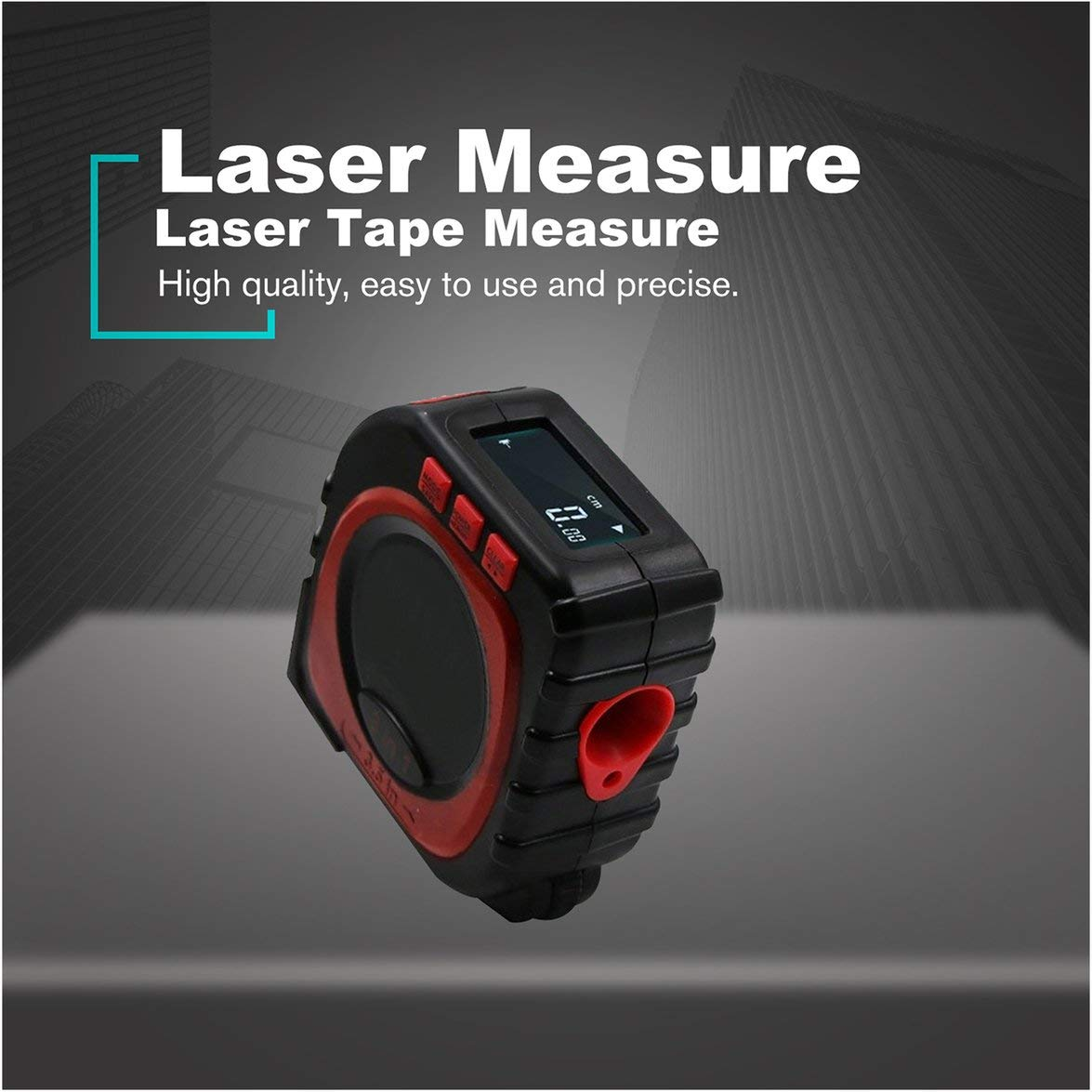 Banbie 3-in-1-Digitalma/ßband-Laser-Entfernungsmesser-Entfernungsmesser-Messger/ät