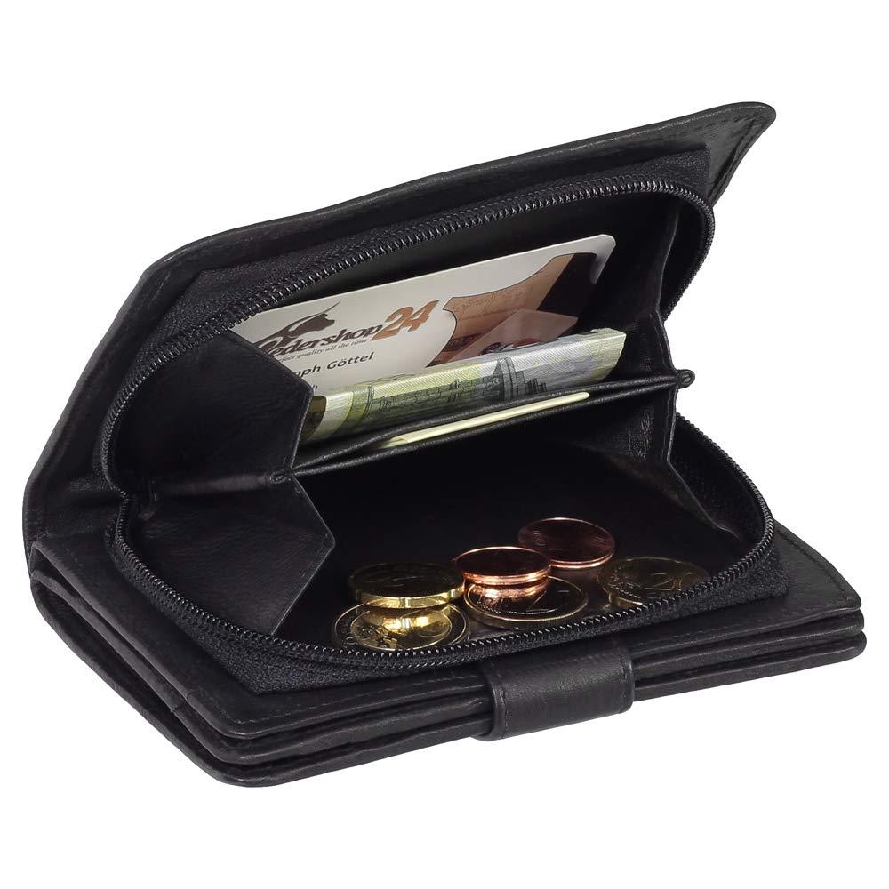 8696a34c8c391 Damen Leder Geldbörse Damen Portemonnaie Damen Geldbeutel - Farbe Bordeaux  - Geschenkset + Exklusiven Ledershop24 Schlüsselanhänger