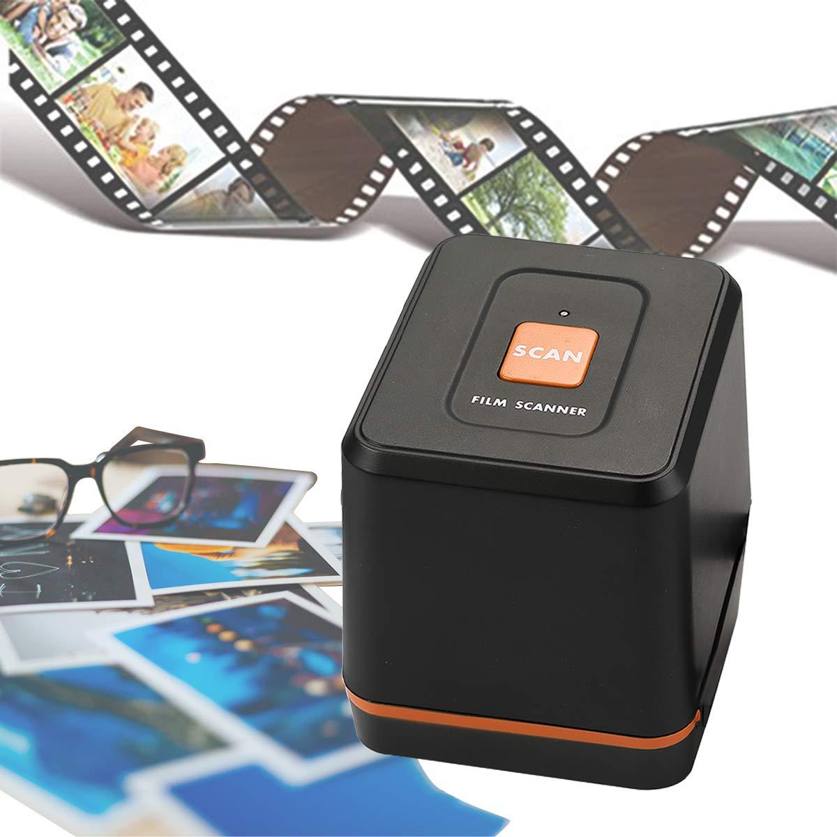[2019 Updated ]Digital Film & Slide Scanner Converter - Convert 35mm 126 Film Negatives & Slides to HD Digital JPEG Photos (1800 or 3600dpi), Easy Load Film Insert, Support Windows & Mac OS Computers by BlazeVideo