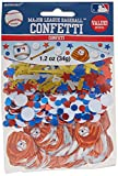 Amscan (362543) Cool Major League Baseball Party Confetti Decoration Value Pack, Foil, 1.2 Oz. Supplies (12), 6 Pieces