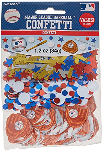 Major League Baseball Party Confetti Decoration Value Pack, Foil, 1.2 Oz. Supplies (12), 6 Pieces ()