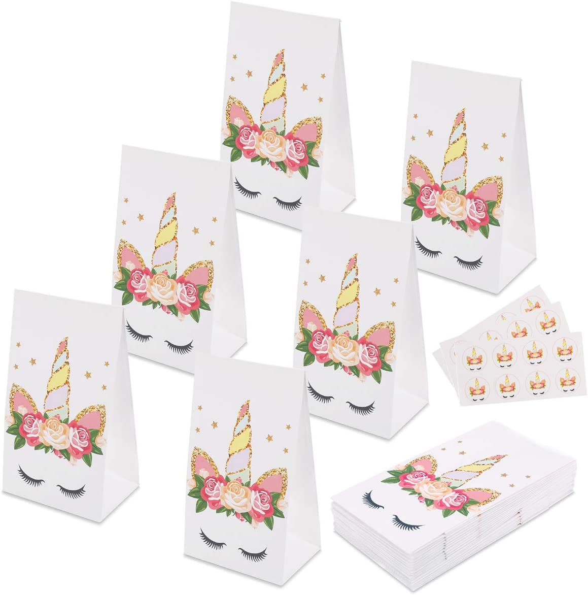 Unicorn Party Favor Bags for 24 Guests