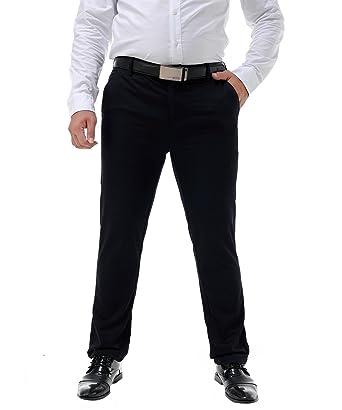 Allthemen - Pantalón de Traje - para Hombre Azul Oscuro 50 ...
