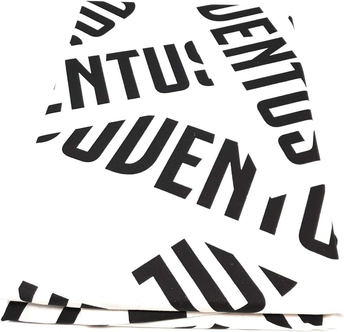 Juventus Biancotex Completo Letto Singolo Prodotto Ufficiale Marchiato con Il Logo Multicolore Lenzuola in Puro Cotone e Fodera