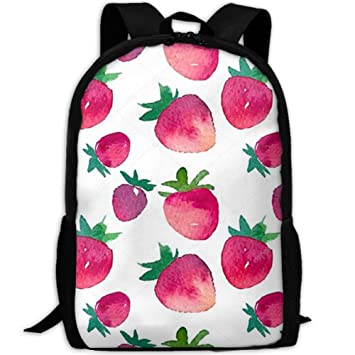 YOYUPRO - Mochila para Ordenador portátil, diseño de Fresas: Amazon.es: Hogar