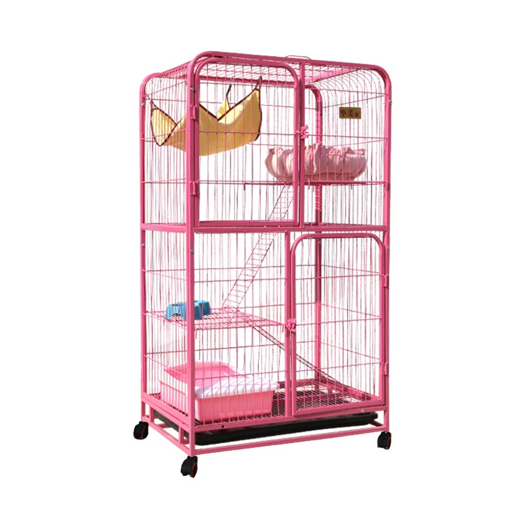 Pink Dog Playpen Crate Fence Pet Kennel Play Pen Exercise Cage Indoor Pet Supplies (color   Pink)