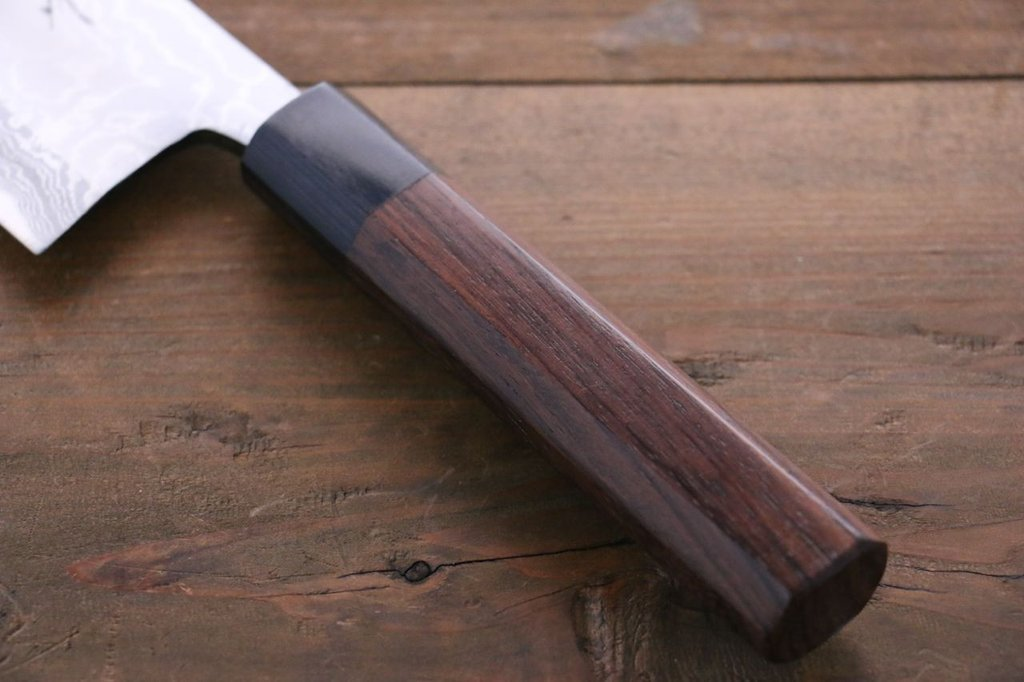 Takayuki Iwai Aogami Steel No.2 Fumon Series Nakiri Japanese Chef Knife
