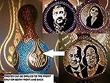 Hourglass Design Custom Personalized Gourd Lamp Night Light Anniversary Birthday Gift Artwork Dad Mom Him Her Women