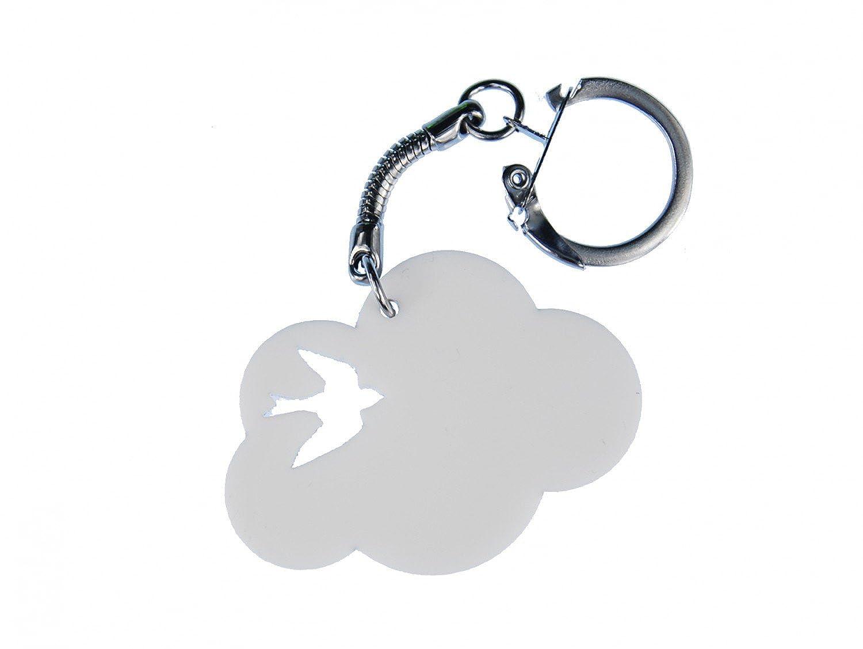 Miniblings Nube Llavero de acrílico pájaro Llavero Nube de ...