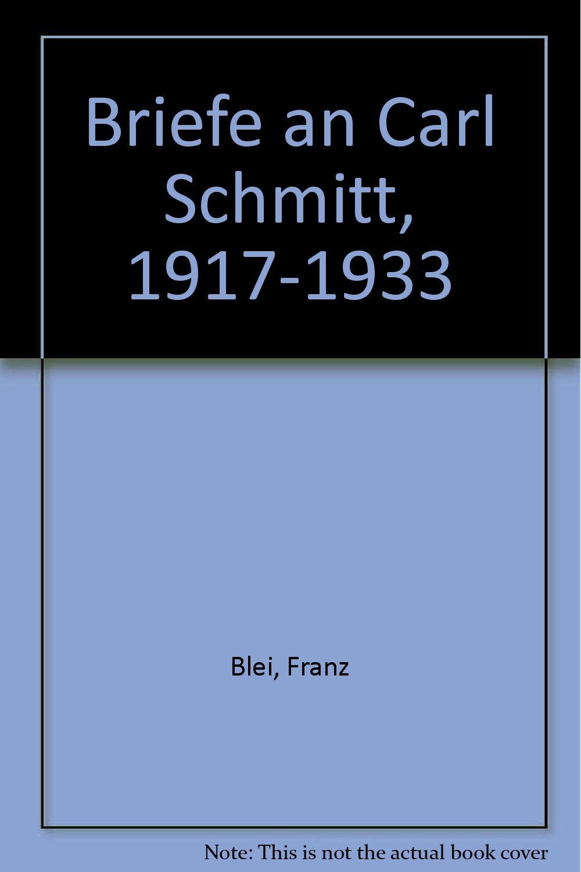 Briefe an Carl Schmitt 1917-1933 Gebundenes Buch – 1. Januar 1995 Angela Reinthal Wilhelm Kühlmann Franz Blei Manutius