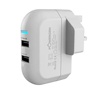 PG powergern 3,4-Amp(17 Watt) Dual USB cargador de pared para ...