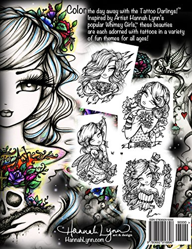 Tattoo Darlings: An Inky Girls Coloring Book