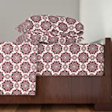 Roostery Cards 4pc Sheet Set A Suit Of Flowers by Robyriker Queen Sheet Set made with