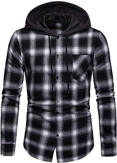 TIMEMEANS Hoodies for Men Autumn Winter Casual Splicing Long Sleeve Hoodie Top Blouse Sweatshirt
