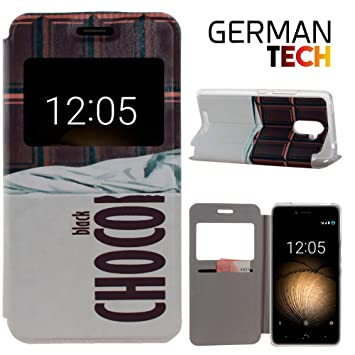 German Tech® - Funda carcasa tipo Libro con función soporte sin ...