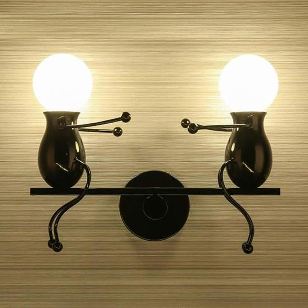 Ikevan 1 x Lamp Hanger Modern Charming Chandelier Creative Iron People Lamp Elegant Wall Lights Hanger