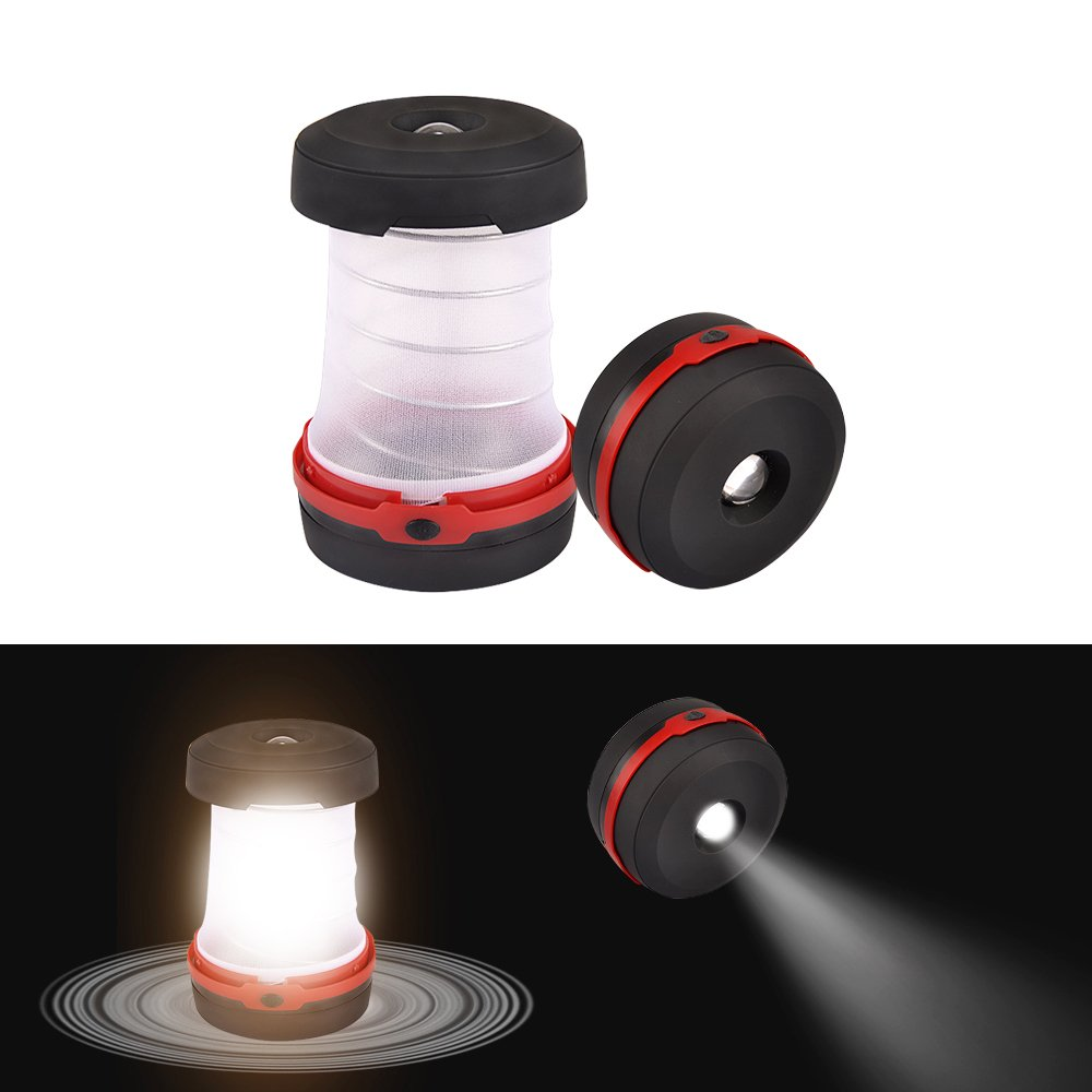 CycleMore 2 Pack Portable Mini LED Lantern Collapsible Camping Light Battery Powered Flashlight 3 Modes Water Resistant Lamp for Outdoor Home Garden Hiking Emergency Outages (Batteries Not Included) by CycleMore (Image #6)