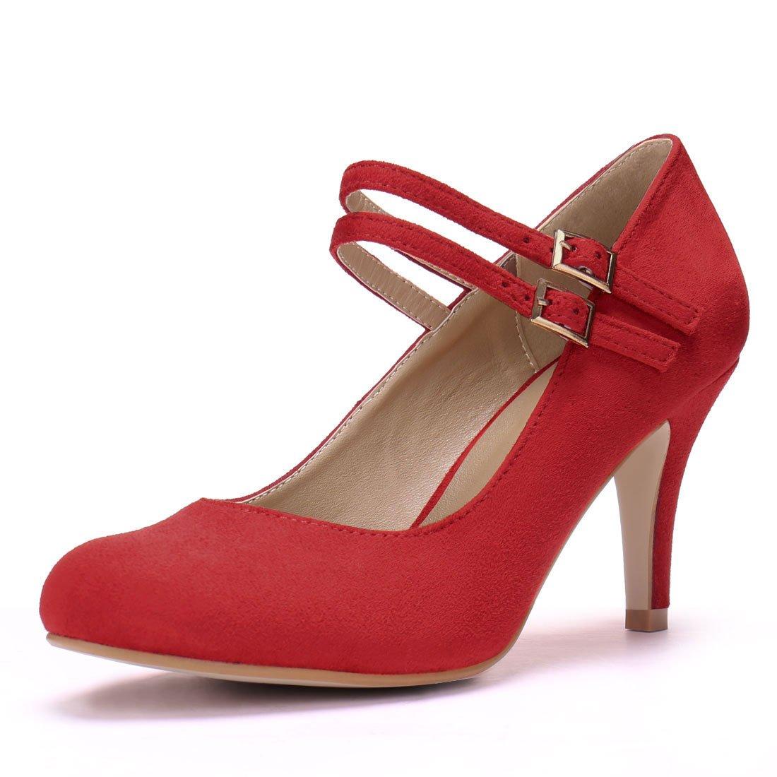 Allegra K Women's Stiletto Heel Mary Jane Pumps a17042200ux0749