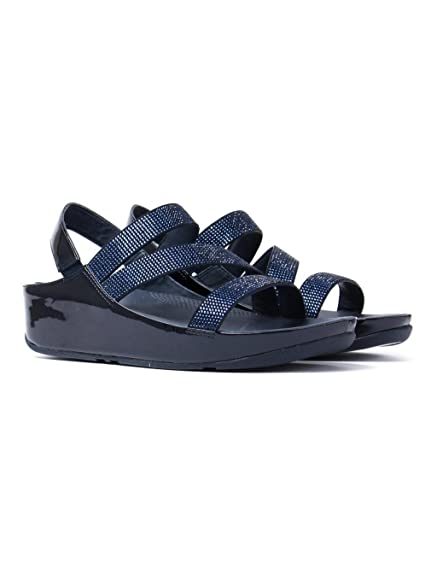 1eeb58e03cd FitFlop Crystall Z-Strap Sandals Supernavy  Amazon.co.uk  Shoes   Bags