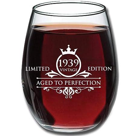 Copas de vino sin tallo 14 oz 1949 70 cumpleaños regalos ...