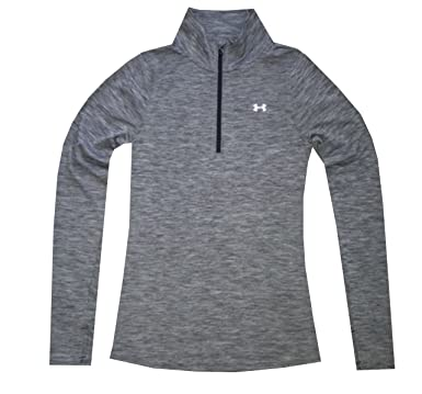 Under Armour Women HeatGear UA Tech Twist Half Zip Long Sleeve Shirt (XS,  Black