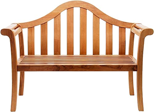 Achla Designs Camelback Wood Garden Bench, Natural