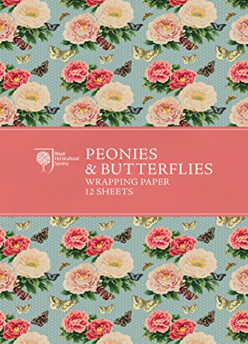 Royal Peony - RHS Peonies and Butterflies Wrapping Paper