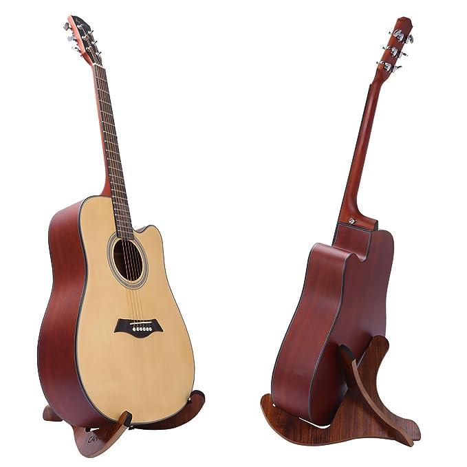 Soporte de Madera para Guitarra, CAHAYA, Soporte para Guitarra Eléctrica, Acústica, Clásica, Bajo, etc.: Amazon.es: Instrumentos musicales