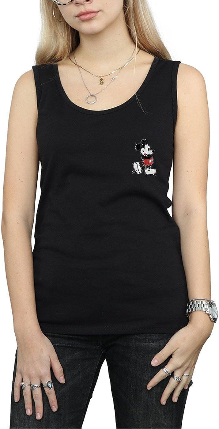 Disney Women's Mickey Mouse Kickin Retro Chest Vest Black