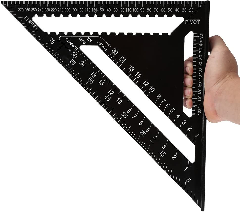 Aluminum Alloy Speed Square Quick Roofing Rafter Triangle Ruler Guide P9G0