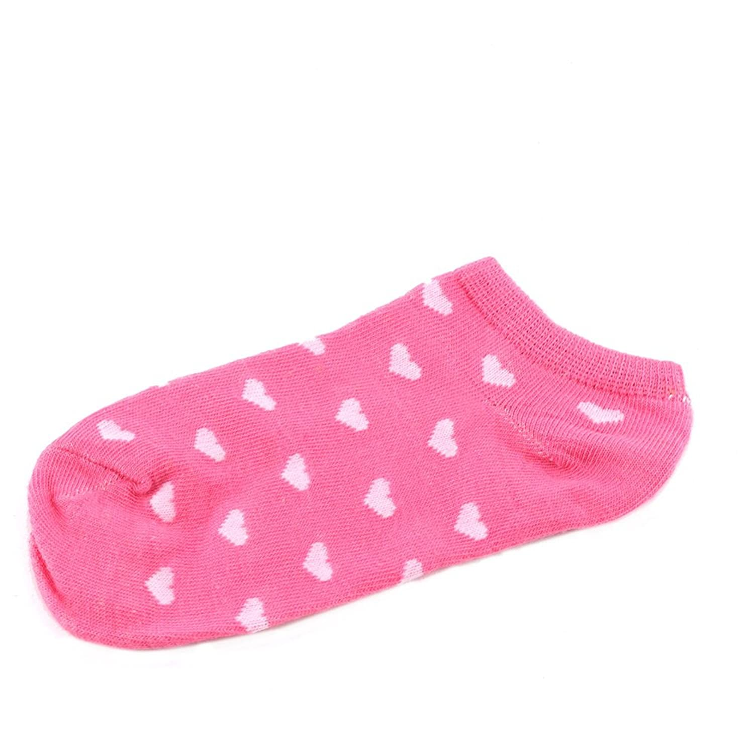 Fashion Women Girls Sports Casual Cute Heart Ankle High Low Cut Cotton Comfortable Socks Grey Hot^Red