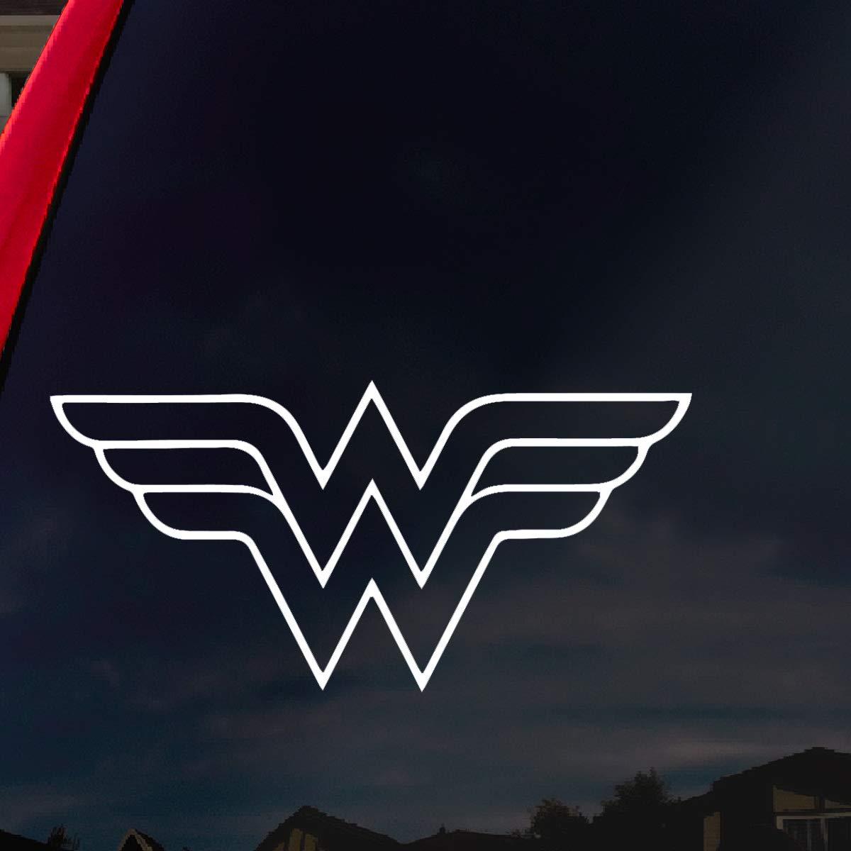 Amazon com socooldesign w superhero woman symbol car truck vinyl decal 6 wide white automotive