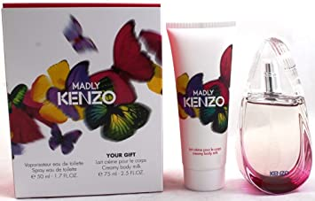 f46a1c32 Amazon.com : Madly Travel Exclusive by Kenzo for Women Gift Set: EDT 1.7  oz.+Creamy Body Milk 2.5 oz. New in Box : Beauty