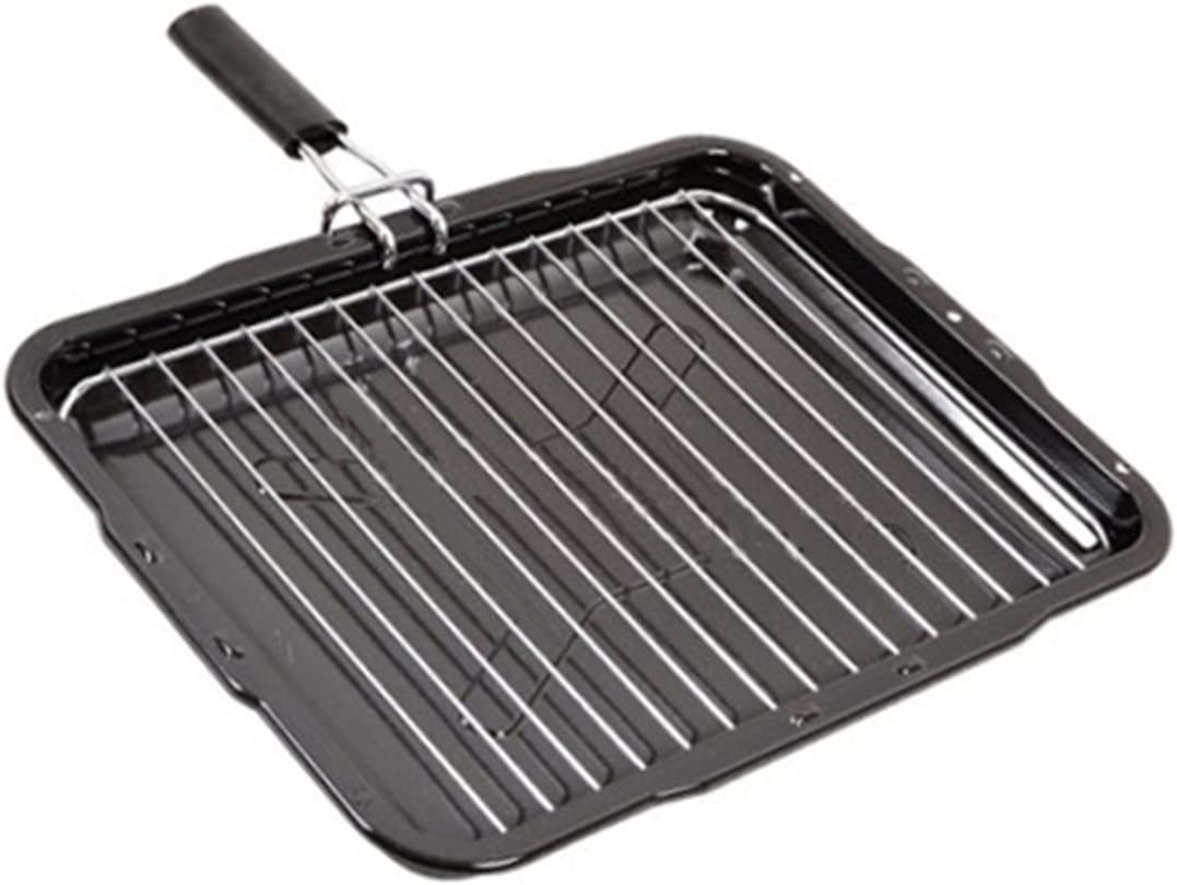 1 X Universale Grill Pan Rimovibile Griglia /& Maniglia 385 x 300mm per Forno Fornello