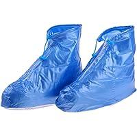 Baoblaze 2 Pcs de Cubierta Cubrezapatillas Cremallera de Proteccion de Botas para Motociclista Multiusos Unisexo