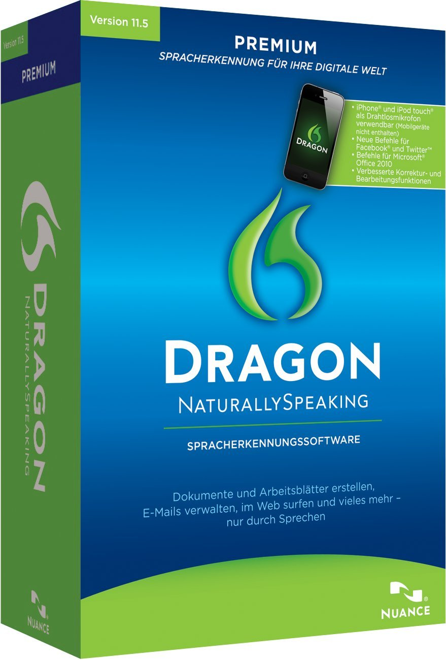 Nuance Dragon NaturallySpeaking Premium 11.5: Amazon.de: Software