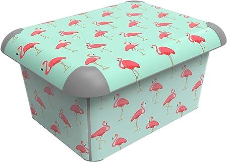 Sundis Art Box A4 15L Artbox Flamingo Caja Decorativa con Tapa ...