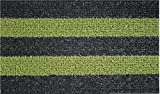 GrassWorx Patio Stripe Doormat, 18 by 30-Inch, Black Olive (Lawn & Patio)