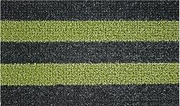 GrassWorx Patio Stripe Doormat, 18 by 30-Inch, Black Olive