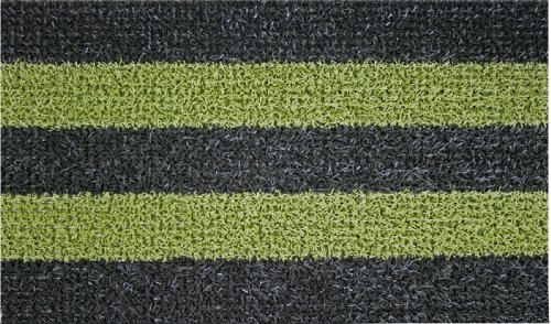 GrassWorx Patio Stripe Doormat, 18 by 30-Inch, Black Olive