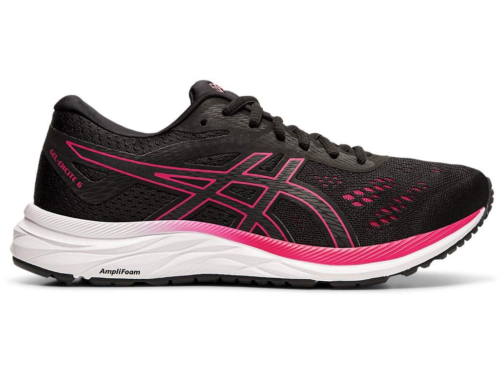 ASICS Women's Gel-Excite 6 Running Shoes, 5M, Black/Rose Petal