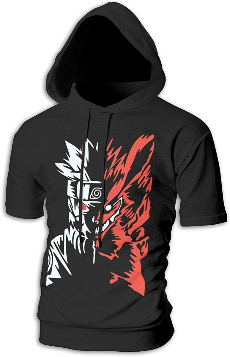 BilliePhillips Mans Naruto Two Face Leisure Drawstring Short Sleeve Sweatshirt