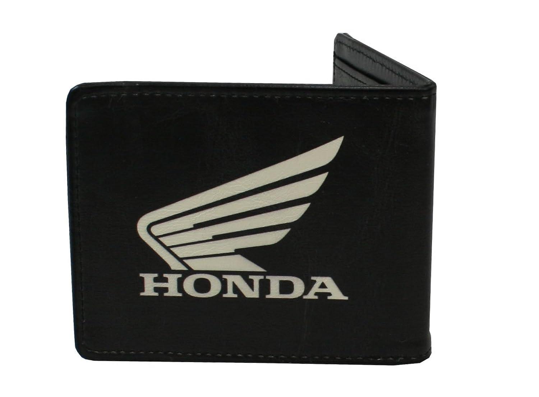 Honda motorcycles logo - Honda Wing Logo Motorcycle Car Black Bi Fold Wallet At Amazon Men S Clothing Store