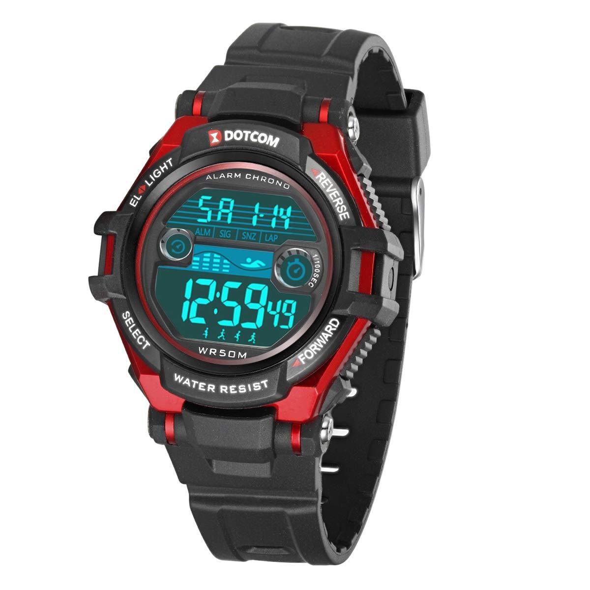 Relojes de Pulsera Electrónicos para Niños Niños Digital Relojes Deportes–5 ATM Reloj Deportivo Impermeable