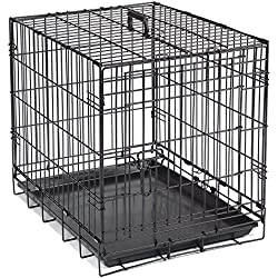 """Crate Appeal Crates for Dogs, Strong, Durable, and Versatile; Foldable and Portable, constructed of Easy-Clean Epoxy-Coated Steel - Large, Black 42""""L x 27""""W x 31""""H"""