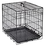 Crate Appeal  Crates for Dogs, Strong, Durable, and Versatile; Foldable and Portable, constructed of Easy-Clean Epoxy-Coated Steel – Large, Black 42″L x 27″W x 31″H For Sale