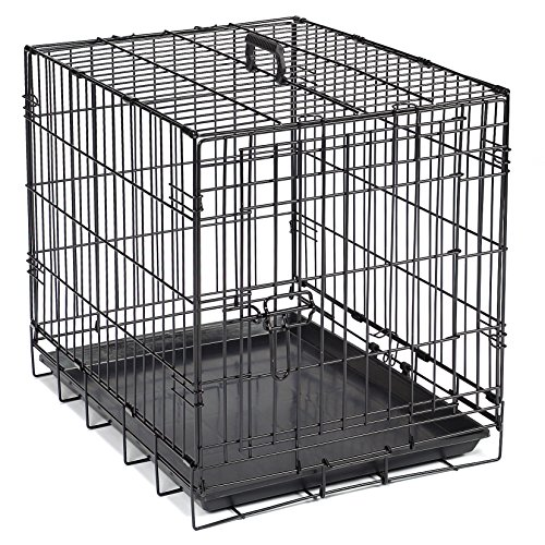 Crate Appeal  Crates for Dogs, Strong, Durable, and Versatile; Foldable and Portable, constructed of Easy-Clean Epoxy-Coated Steel – Extra Large, Black 48″L x 30″W x 32″H