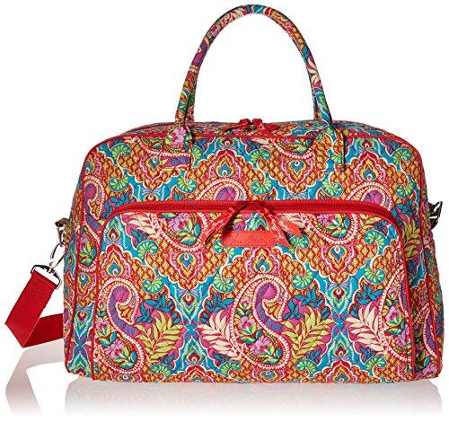 Vera Bradley Luggage Womens Weekender Paisley in Paradise Duffel Bag
