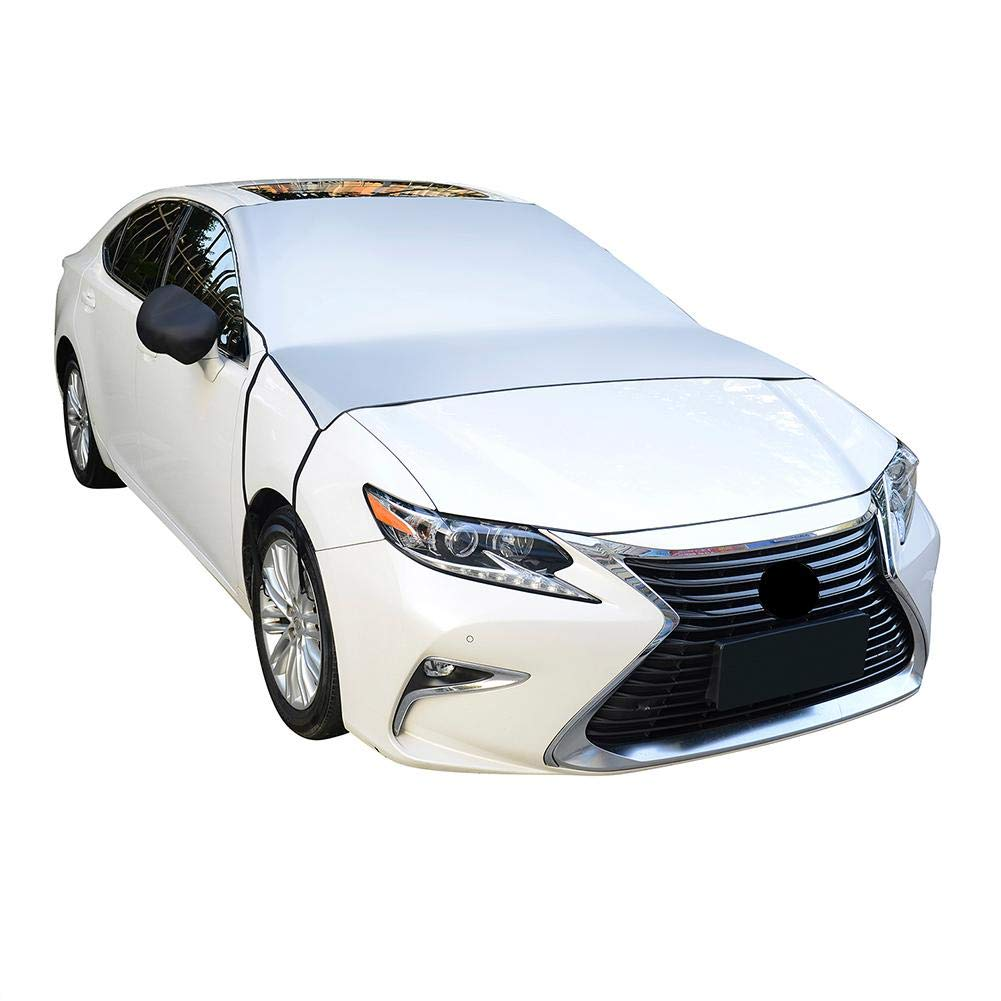 Protective Windscreen Cover for Snow Blocker Anti-Frost Anti-Icing Keruite Car Front Windshield Cover with 2 Rear/Mirror/Cover