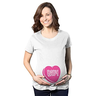 Crazy Dog T Shirts Maternity Baby Candy Heart Funny Valentines Day